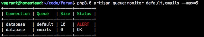 Queue monitor limit screenshot